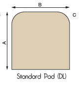 Standard Hearth Pad Diagram