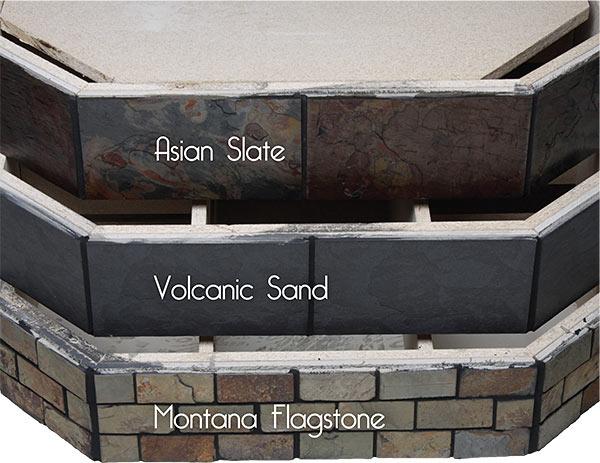 variety of tile pedestals