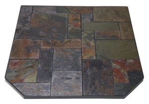 Hearth Pad with Random Cut Asian Slate Sections