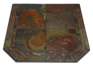 Hearth Pad with Venetian Inlay Asian Slate Sections